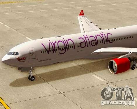 Airbus A330-300 Virgin Atlantic Airways для GTA San Andreas салон