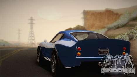 GTA 5 Stinger GT для GTA San Andreas вид сзади слева