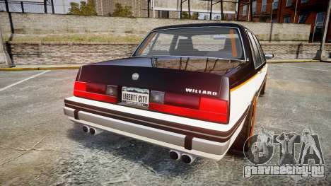 Willard Watch Dogs Black Viceroys для GTA 4 вид сзади слева