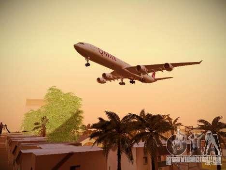 Airbus A340-600 Qatar Airways для GTA San Andreas вид изнутри
