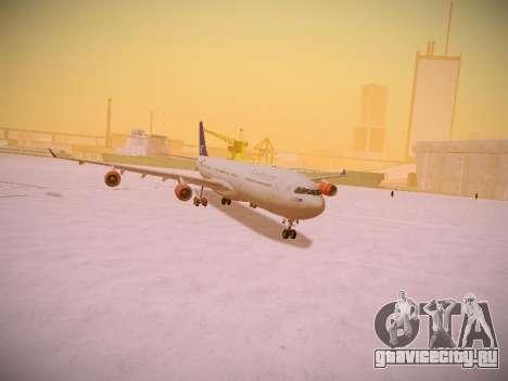 Airbus A340-300 Scandinavian Airlines для GTA San Andreas вид сверху