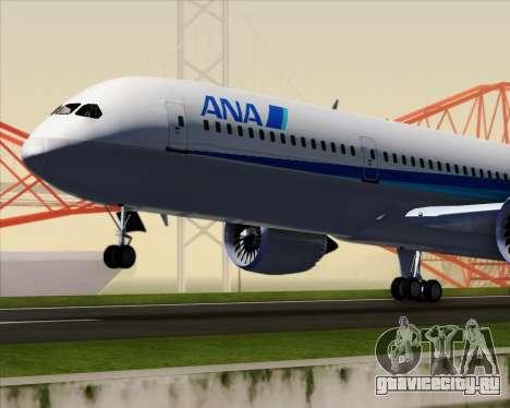 Boeing 787-9 All Nippon Airways для GTA San Andreas вид сверху