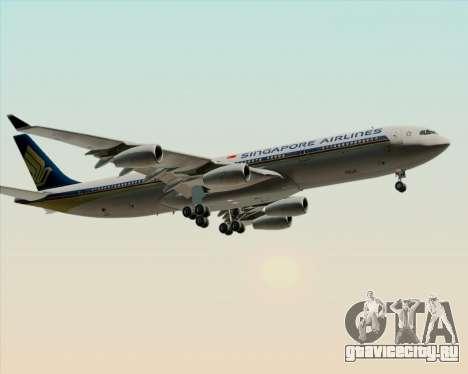 Airbus A340-313 Singapore Airlines для GTA San Andreas вид сбоку