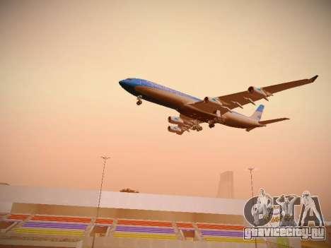 Airbus A340-300 Aerolíneas Argentinas для GTA San Andreas вид снизу
