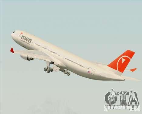 Airbus A330-300 Northwest Airlines для GTA San Andreas