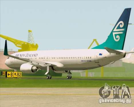 Boeing 737-800 Air New Zealand для GTA San Andreas вид справа