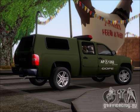 Chevrolet Silverado Gope для GTA San Andreas вид справа
