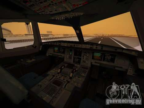 Airbus A380-800 Lufthansa для GTA San Andreas салон
