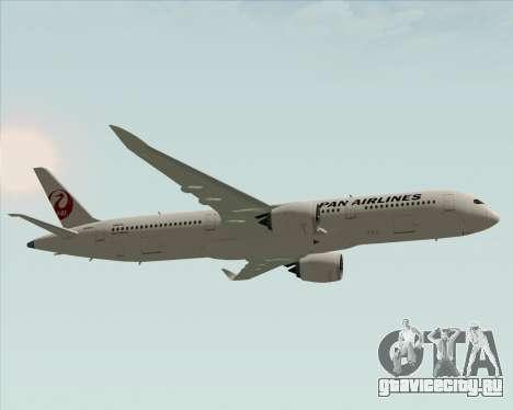 Airbus A350-941 Japan Airlines для GTA San Andreas вид изнутри