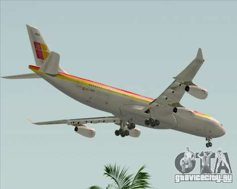 Airbus A340 -313 Iberia для GTA San Andreas вид сбоку