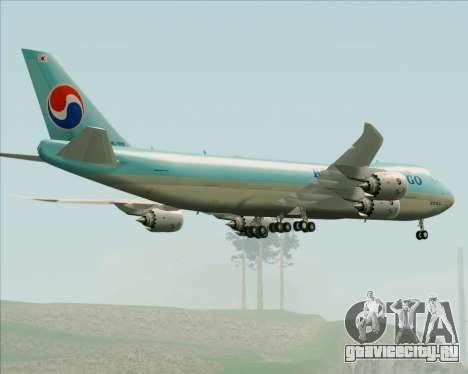 Boeing 747-8 Cargo Korean Air Cargo для GTA San Andreas вид снизу