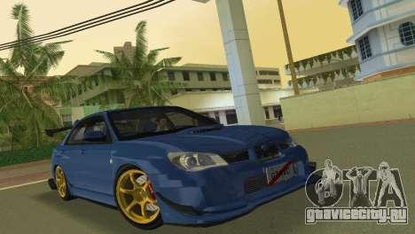 Subaru Impreza WRX STI 2006 Type 2 для GTA Vice City вид слева