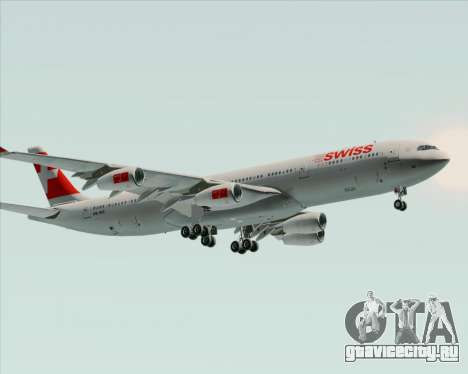 Airbus A340-313 Swiss International Airlines для GTA San Andreas вид сзади