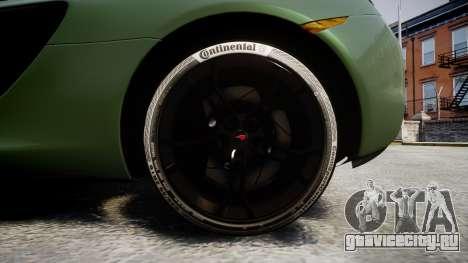 McLaren 650S Spider 2014 [EPM] Continental для GTA 4 вид сзади
