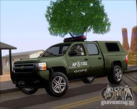 Chevrolet Silverado Gope для GTA San Andreas вид слева