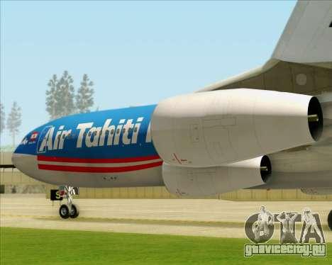 Airbus A340-313 Air Tahiti Nui для GTA San Andreas колёса