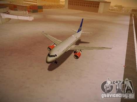 Airbus A319-132 Scandinavian Airlines для GTA San Andreas колёса