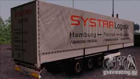Krone SPD27 Systra Logistik для GTA San Andreas вид слева