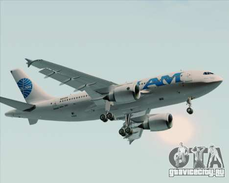 Airbus A310-324 Pan American World Airways для GTA San Andreas вид сзади слева