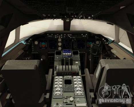 Boeing 747-8 Cargo Korean Air Cargo для GTA San Andreas салон