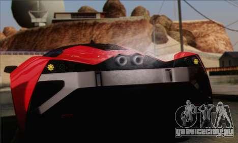 Marussia B2 для GTA San Andreas вид изнутри