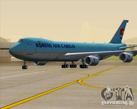 Boeing 747-8 Cargo Korean Air Cargo для GTA San Andreas вид сверху