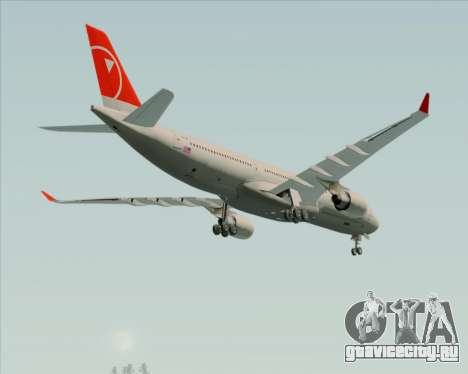 Airbus A330-300 Northwest Airlines для GTA San Andreas вид сверху