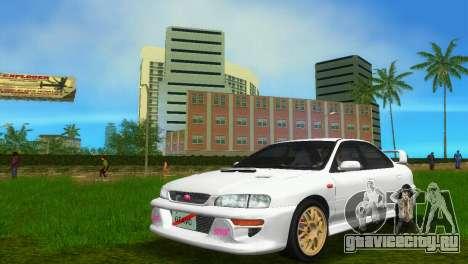 Subaru Impreza WRX STI GC8 Sedan Type 3 для GTA Vice City вид сзади слева