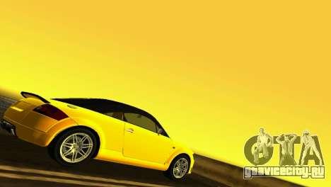 Audi TT Coupe BiMotor Black Revel для GTA Vice City вид справа