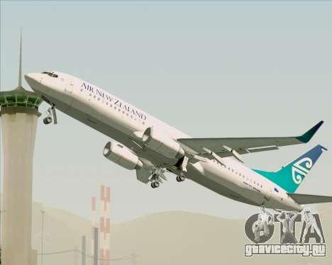 Boeing 737-800 Air New Zealand для GTA San Andreas двигатель