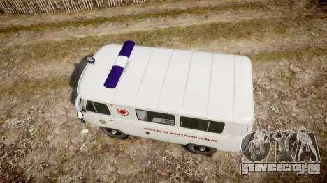УАЗ-39629 скорая помощь Венгрии для GTA 4 вид справа