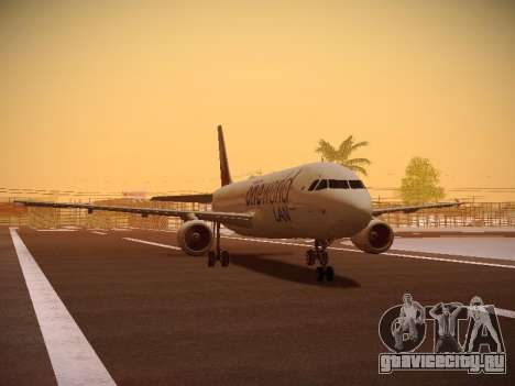 Airbus A320-214 LAN Oneworld для GTA San Andreas вид слева