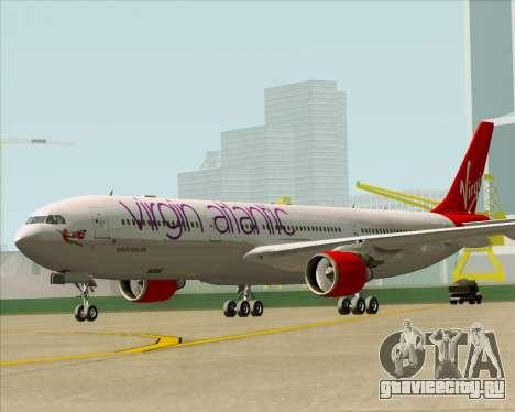 Airbus A330-300 Virgin Atlantic Airways для GTA San Andreas вид сзади слева