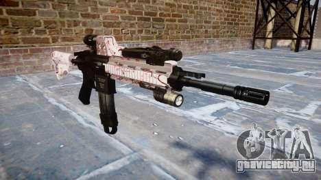 Автоматический карабин Colt M4A1 cherry blososm для GTA 4