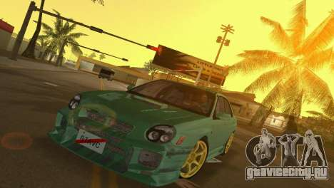 Subaru Impreza WRX 2002 Type 3 для GTA Vice City вид слева