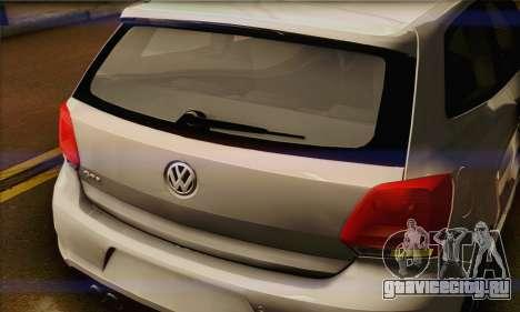 Volkswagen Polo GTi 2011 для GTA San Andreas вид сзади
