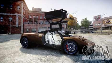 Pagani Huayra 2013 для GTA 4 вид сбоку