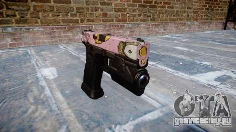 Пистолет Glock 20 kawaii для GTA 4