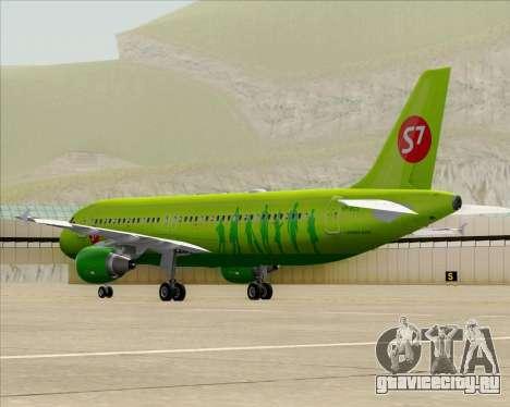 Airbus A320-214 S7-Siberia Airlines для GTA San Andreas вид сзади слева