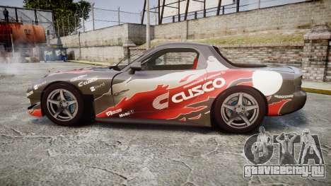 Mazda RX-7 Cusco для GTA 4 вид слева