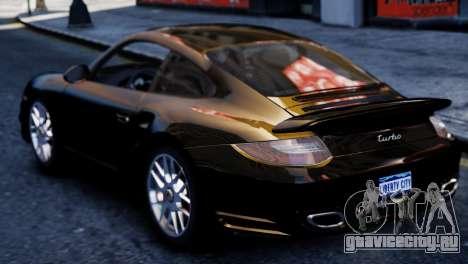 Porsche 911 Turbo для GTA 4 вид сзади слева