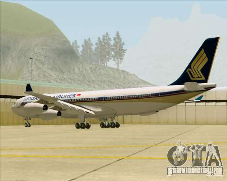 Airbus A340-313 Singapore Airlines для GTA San Andreas вид справа