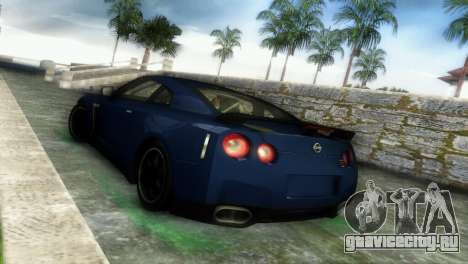Nissan GT-R SpecV Black Revel для GTA Vice City вид справа