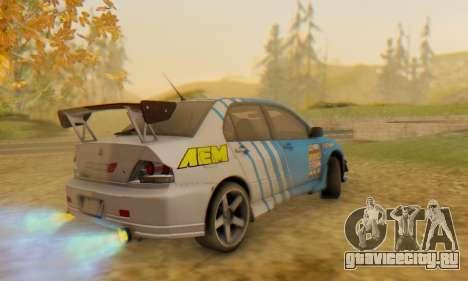 Mitsubishi Lancer Turkis Drift Aem для GTA San Andreas вид сбоку
