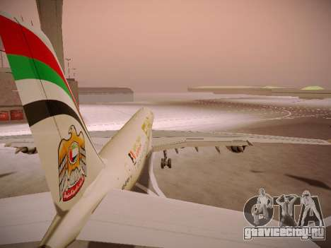 Airbus A340-600 Etihad Airways для GTA San Andreas колёса