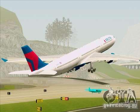 Airbus A330-300 Delta Airlines для GTA San Andreas салон