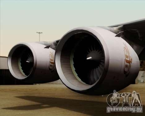 Airbus A380-841 Emirates для GTA San Andreas вид сверху