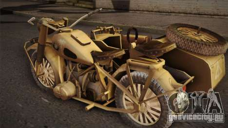BMW R75 Desert from Forgotten Hope 2 для GTA San Andreas вид слева