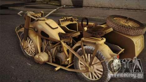 BMW R75 Desert from Forgotten Hope 2 для GTA San Andreas вид слева