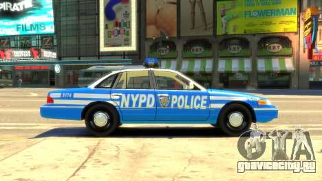 Ford Crown Victoria 1994 NYPD для GTA 4 вид слева